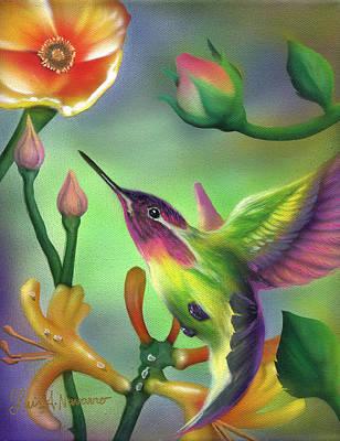 Hummingbird Painting - Colibri by Luis  Navarro
