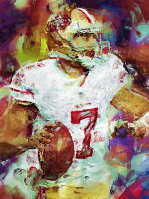 Colin Kaepernick Abstract 1 Print by David G Paul