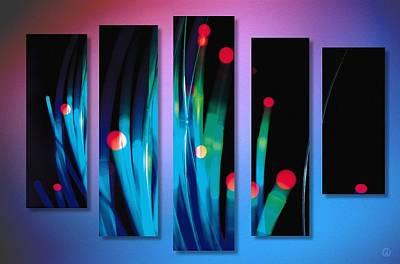 Abstract Collage Digital Art - Collage by Gun Legler