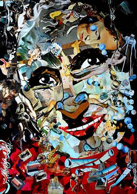 Dali Like Painting - Collage Painting Gala Dali by Irina Bast