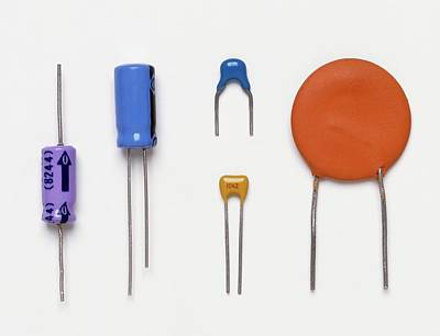 Collection Of Capacitors Print by Dorling Kindersley/uig