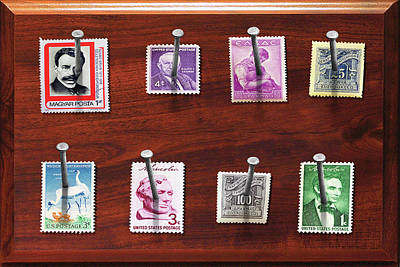 Collector - Stamp Collector - My Stamp Collection Print by Mike Savad