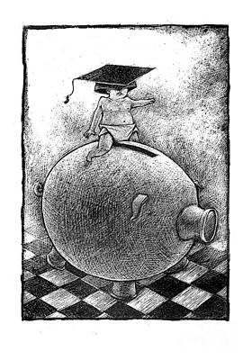 College Fund Print by Chris Van Es