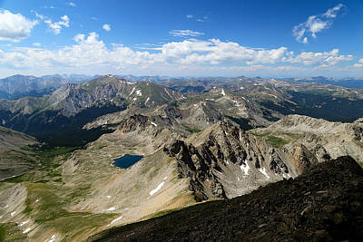 Mt Harvard Photograph - Collegiate Range by Kevin Buffington