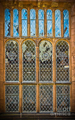Sheild Photograph - Collegiate Window - Princeton by Colleen Kammerer
