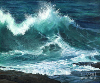 Matte Painting - Colliding Tides by Jeanette French