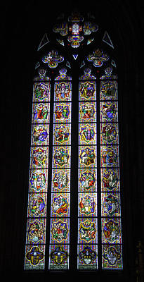 Relief Art Photograph - Cologne Cathedral Stained Glass Window Johannes Klein Windows by Teresa Mucha