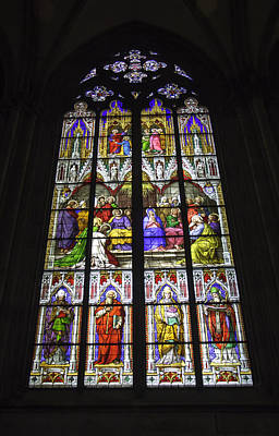 Cologne Cathedral Stained Glass Window Of Pentecost Print by Teresa Mucha