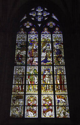 Relief Art Photograph - Cologne Cathedral Stained Glass Window Of The Nativity by Teresa Mucha