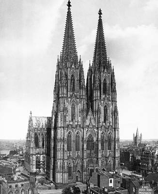 Cologne Cathedral Print by Underwood Archives