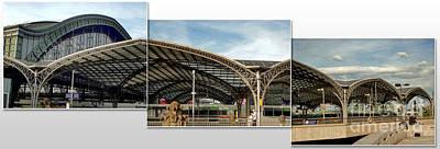 Cologne Central Train Station - Koln Hauptbahnhof - 02 Print by Gregory Dyer