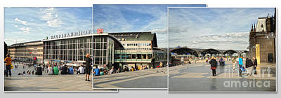 Cologne Central Train Station - Koln Hauptbahnhof - 01 Print by Gregory Dyer