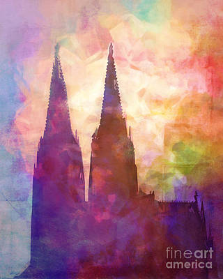 Cologne Lights Print by Lutz Baar