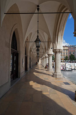Krakow Photograph - Colonade Along The Side Of Sukiennice by Panoramic Images