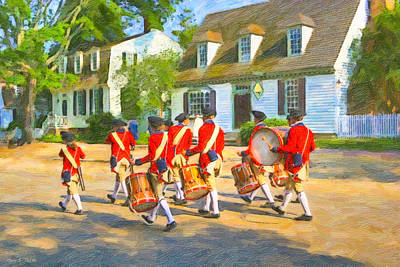 Historical Re-enactments Photograph - Colonial American Marching Band by Mark E Tisdale