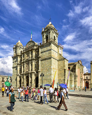 Oaxacan Photograph - Colonial Cathedral In Oaxaca by Mark E Tisdale