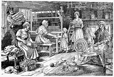 Colonial Cloth Makers Print by Granger