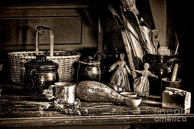 Colonial Table Set Print by Olivier Le Queinec