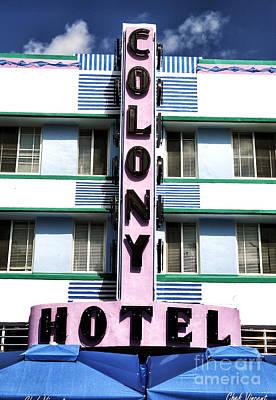 Colony Hotel Print by John Rizzuto