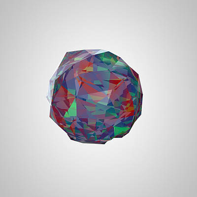Digital Art - Color Crystal I by Thomas Richter