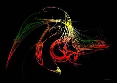 Color Design With Lines Print by Mario Perez