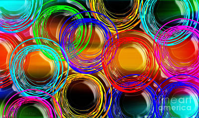 Abstract Digital Art - Color Frenzy 1 by Andee Design