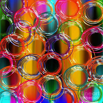 Rainbow Digital Art - Color Frenzy 4 by Andee Design