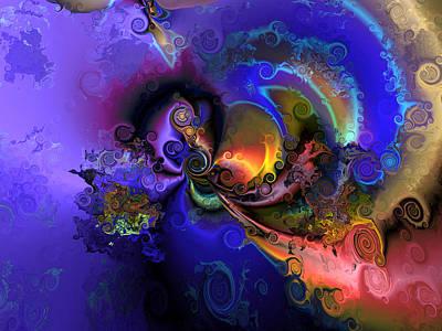 Algorithmic Digital Art - Color Gone Amok by Claude McCoy