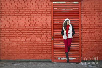 Brick Street Photograph - Color Me Red by Evelina Kremsdorf