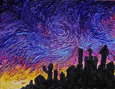 Blue Painting - Color Of The Sky Part1 by Felix Concepcion