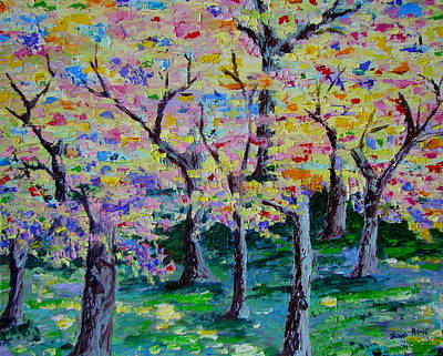 Color Of The Trees Print by Lisa Rose Musselwhite