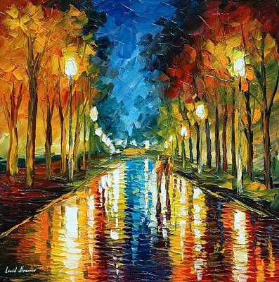Oil Landscape Painting - Color Reflections by Leonid Afremov