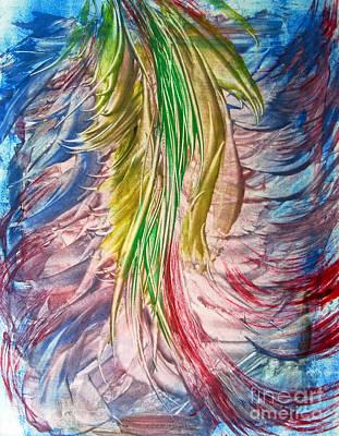 Printmaking Painting - Color Tassels by Alexandra Jordankova