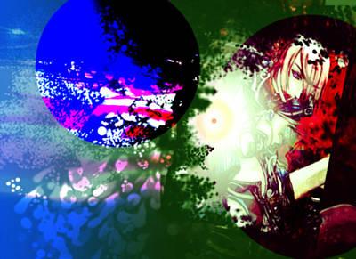 Digital Art - Color War by Racquel Delos Santos