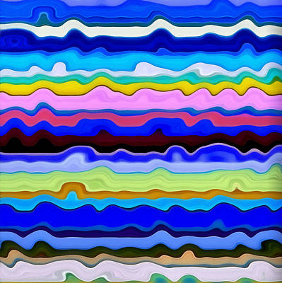 Hotel Painting - Color Waves No. 4 by Michelle Calkins