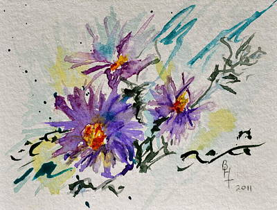 Mums Painting - Colorado Asters by Beverley Harper Tinsley
