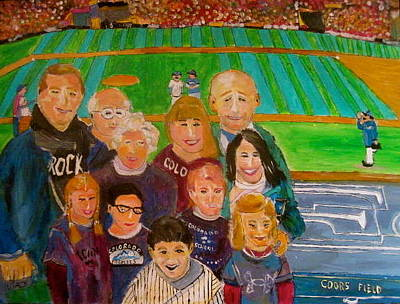 Painting - Colorado Baseball Family by Michael Litvack