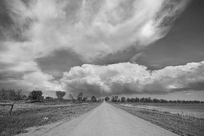 Corporate Art Photograph - Colorado Country Road Stormin Skies Bw by James BO  Insogna