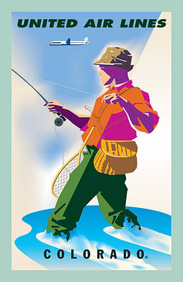 Advertising Digital Art - Colorado Fishing by Gary Grayson
