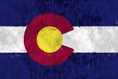Colorado Flag Print by World Art Prints And Designs