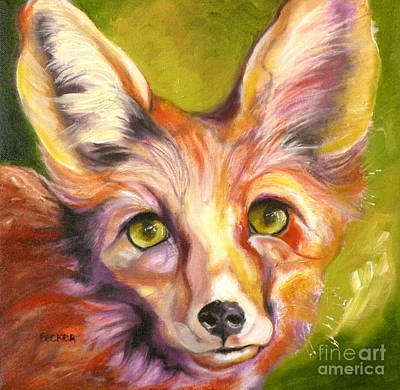 Oil Drawing - Colorado Fox by Susan A Becker