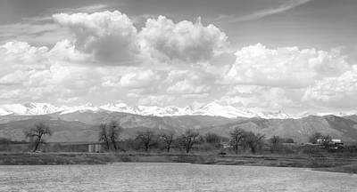 Colorado Front Range Rocky Mountains Panorama Bw Print by James BO  Insogna