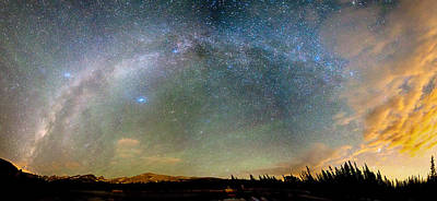 Colorado Indian Peaks Wilderness Milky Way Panorama Print by James BO  Insogna