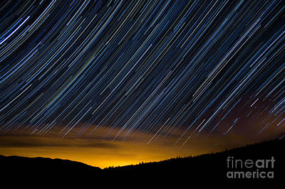 Colorado Mountain Startrails Print by Benjamin Reed