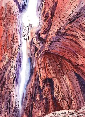 Canyon Painting - Colorado Mountains Garden Of The Gods Canyon by Irina Sztukowski
