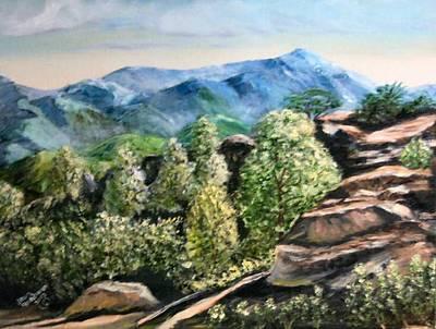 Colorado Mountains Original by Joan Stohlman