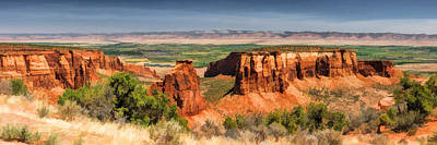 Canyon Painting - Colorado National Monument Canyon Panorama by Christopher Arndt