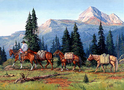 Randy Painting - Colorado Outfitter by Randy Follis