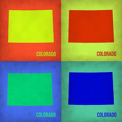 Colorado Pop Art Map 2 Print by Naxart Studio