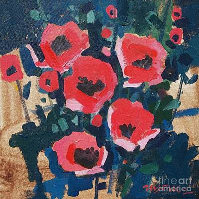 Flowers Painting - Colorado Poppies by Micheal Jones